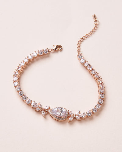 Rose Gold CZ Wedding Bracelet