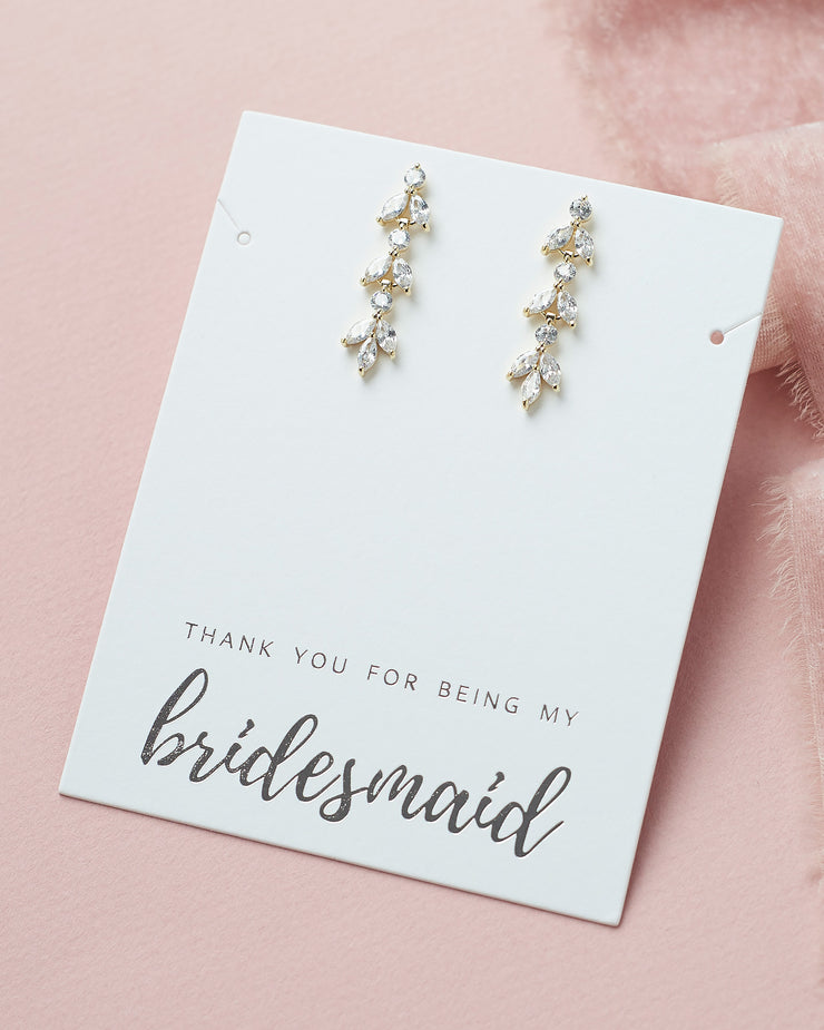Bridesmaid Earrings Gold