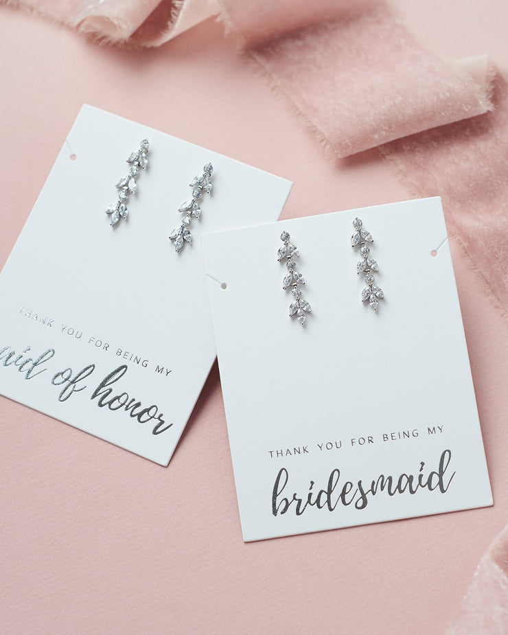 Bridesmaid Earrings CZ