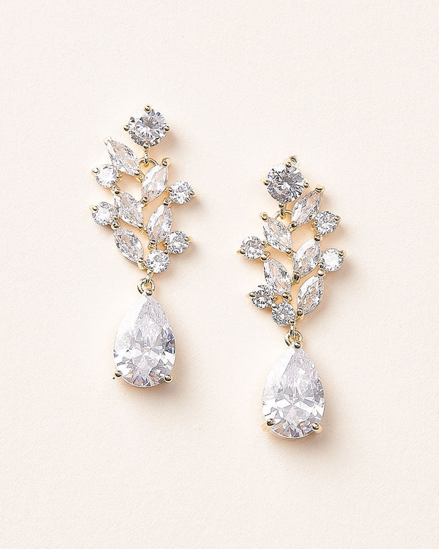 Gold CZ Earrings