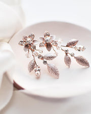 Floral Rose Gold Earrings