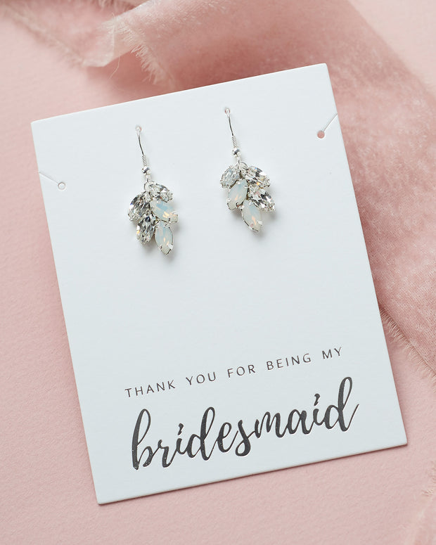 Opal Earrings for Bridesmaids