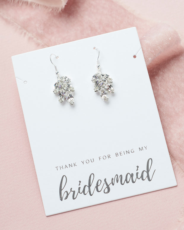 Silver Bridesmaid Earrings