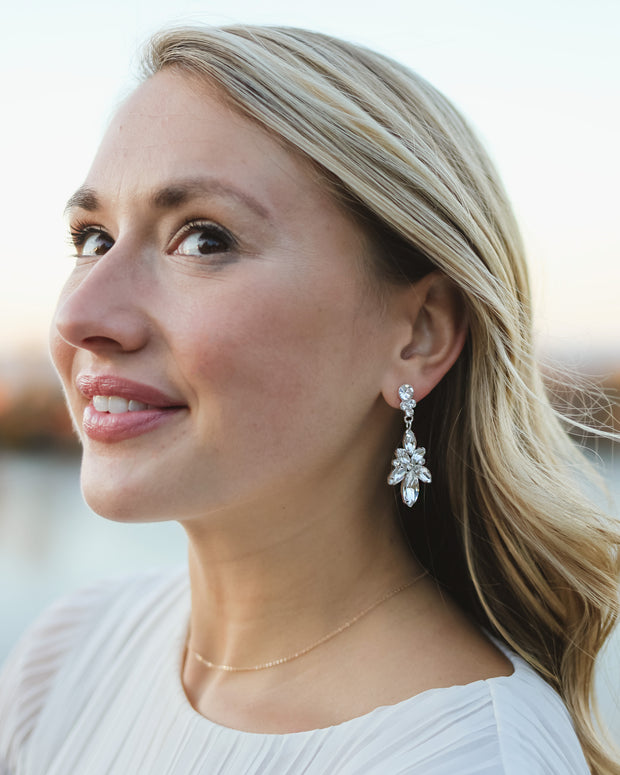 Drea Crystal Drop Earrings
