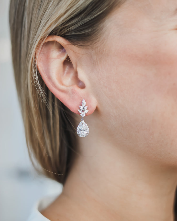 CZ Wedding Earrings Drop