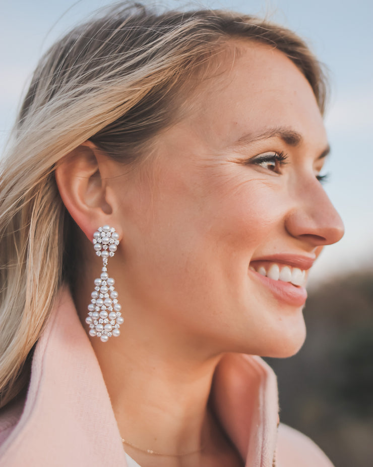 Lila Pearl Drop Earrings