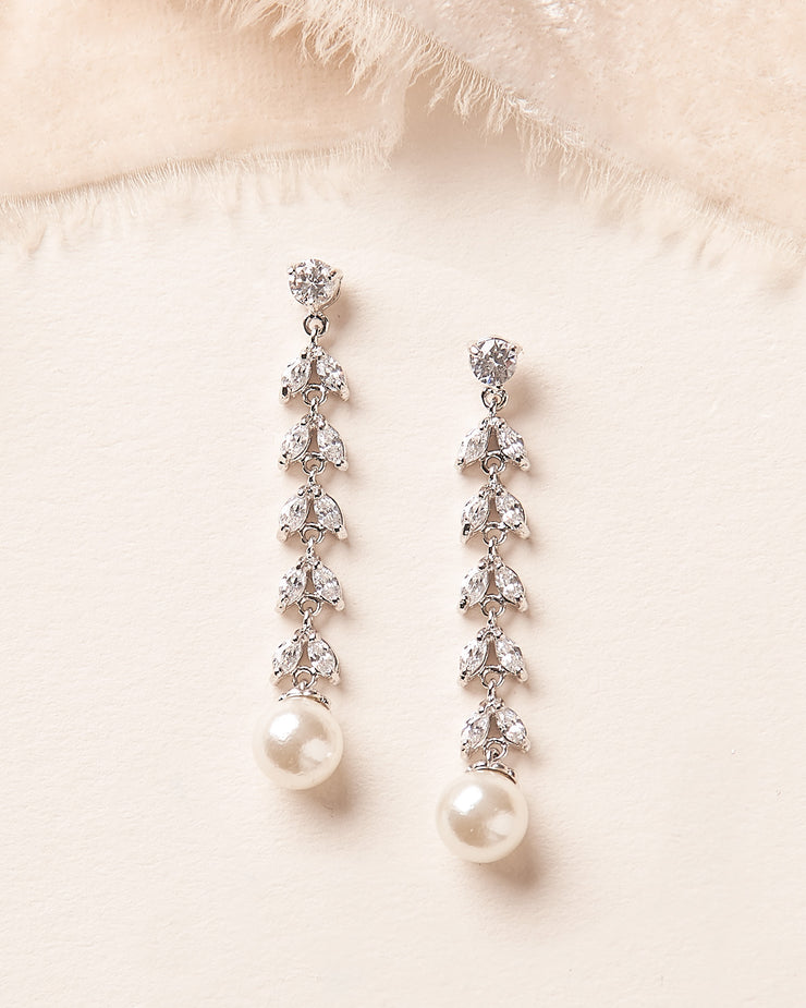 Karina CZ & Pearl Earrings