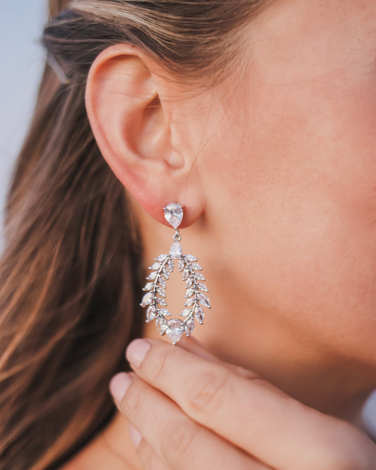 Wedding Earrings Hoops