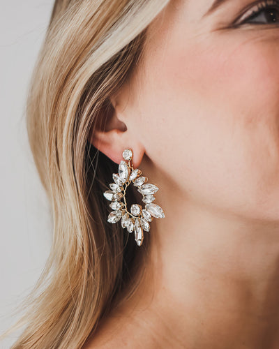 Gold Statement Bridal Earrings
