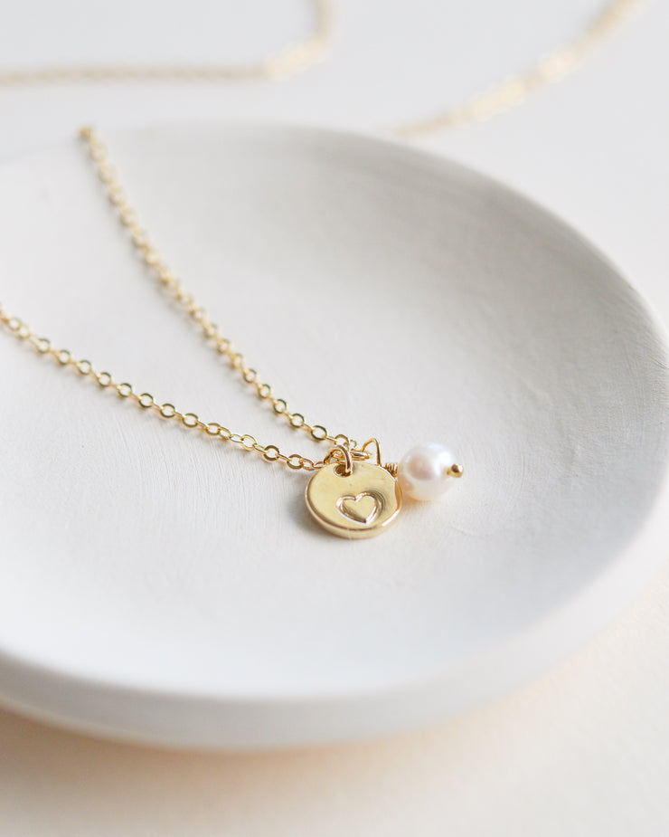 Heart Necklace Bridesmaid Gift