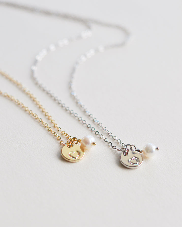 Engraved Heart Bridesmaid Jewelry Set