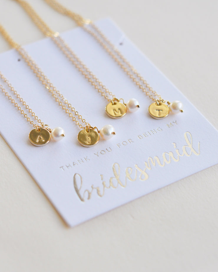 Initial Necklace Bridesmaid