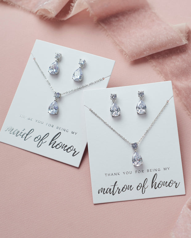 CZ Bridal Party Jewelry