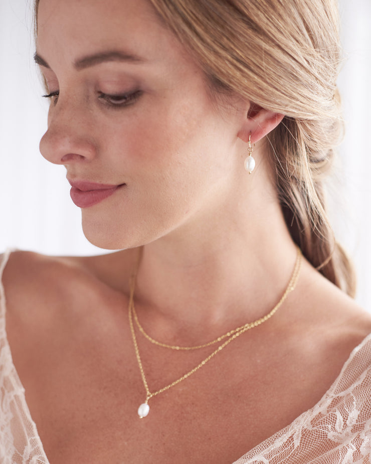 Bridesmaid Pearl Necklace