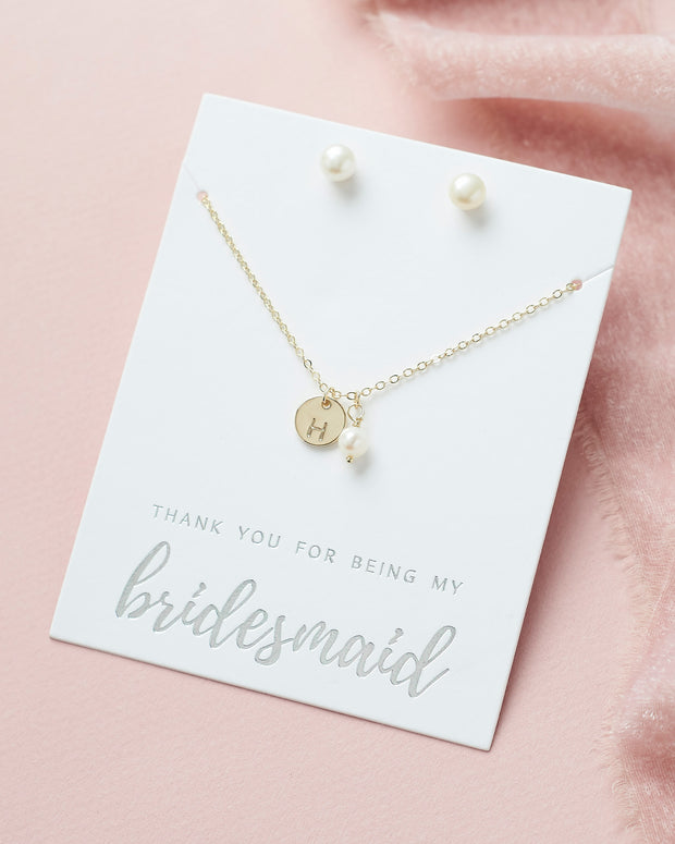 Initial Jewelry Set Bridesmaid