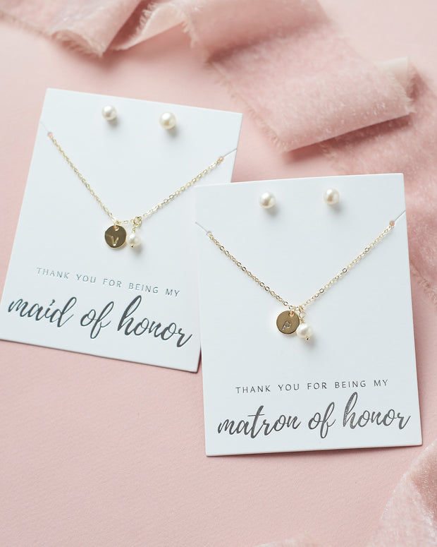 Gold Personalized Bridesmaid Jewelry