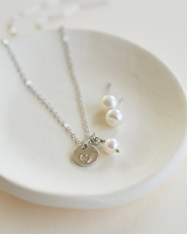 Heart Necklace Gift Set