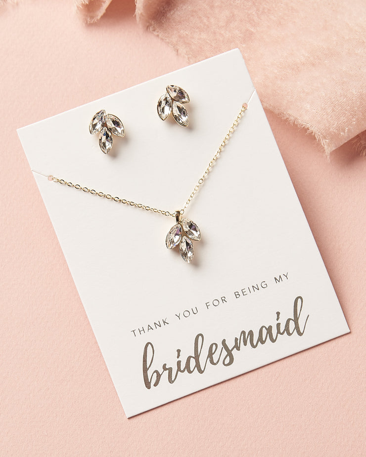 Gold Leaf Bridesmaid Jewelry
