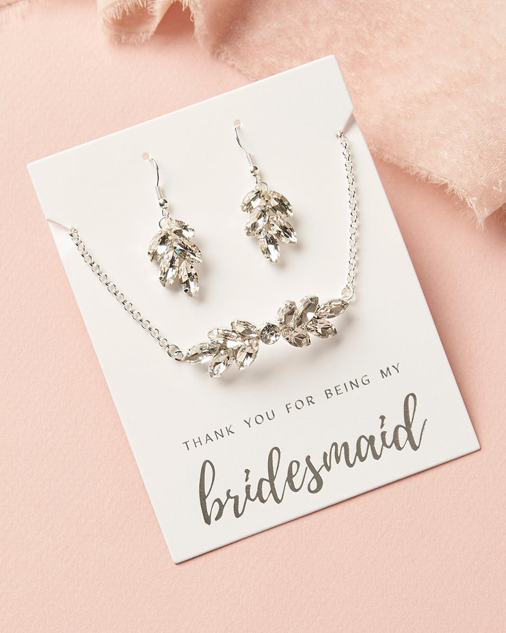 Earrings and Bracelet for Bridesmaid