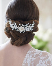 Floral Wedding Back Comb