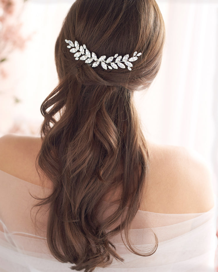 Crystal Leaf Wedding Comb