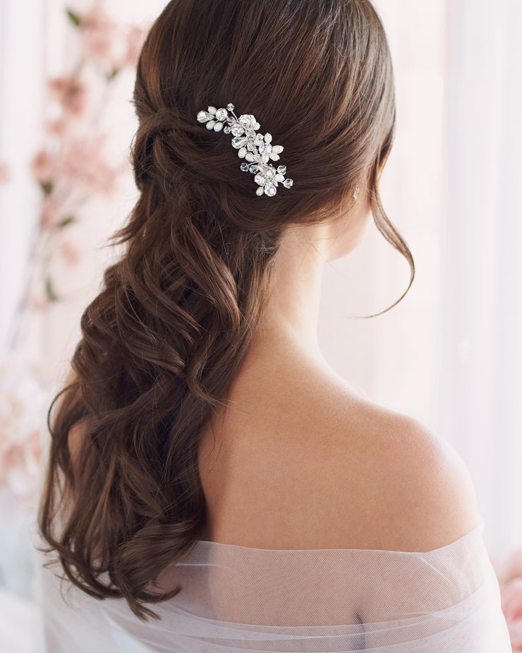 Pearl Crystal Hair Comb for Weddings