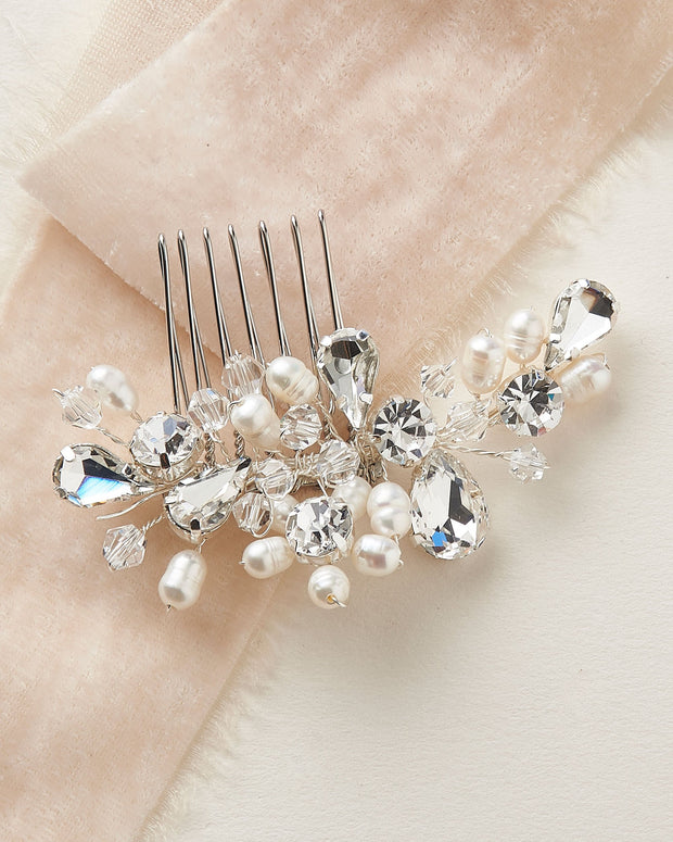 Freshwater Pearl Wedding Comb