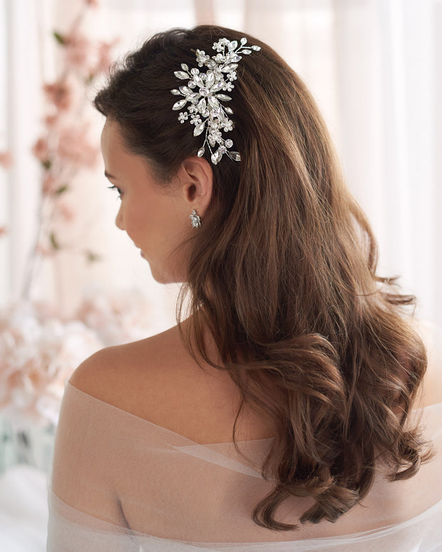 Crystal Floral Comb Wedding