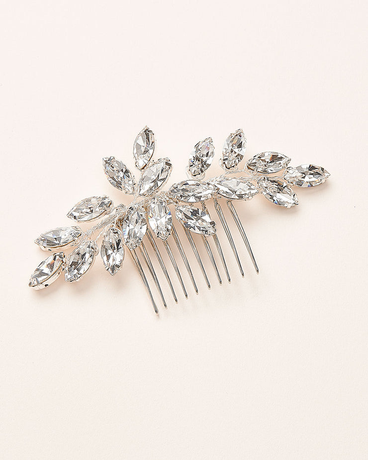 Opal Crystal Hair Comb for Bride