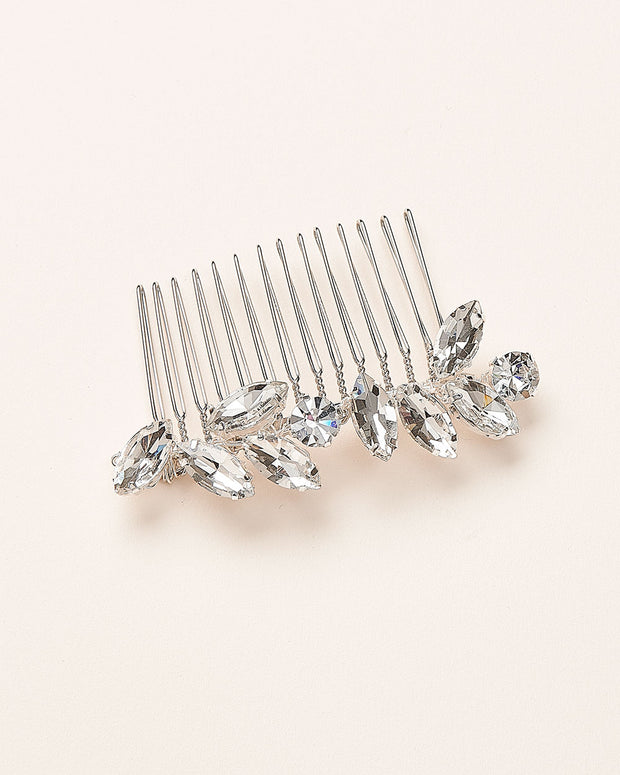 Opal Gemstone & Crystal Bridal Comb