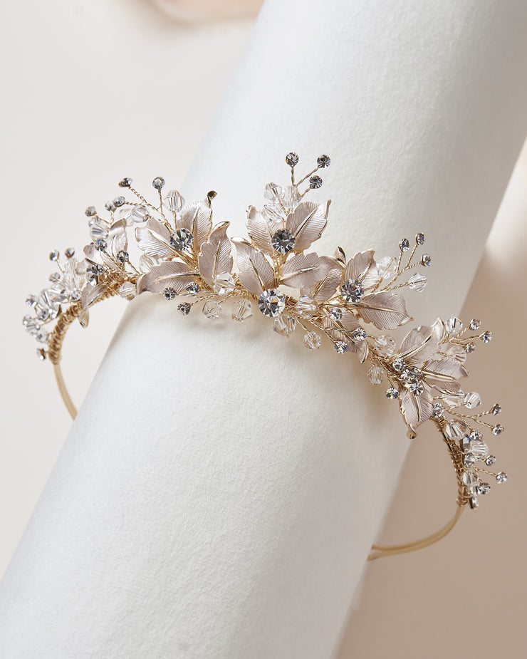 Gold Wedding Crown Floral