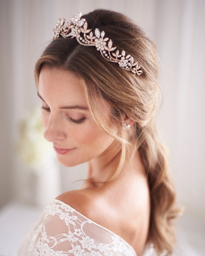 Rose Gold Wedding Crown