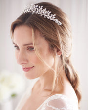 Silver Crystal Wedding Headpiece