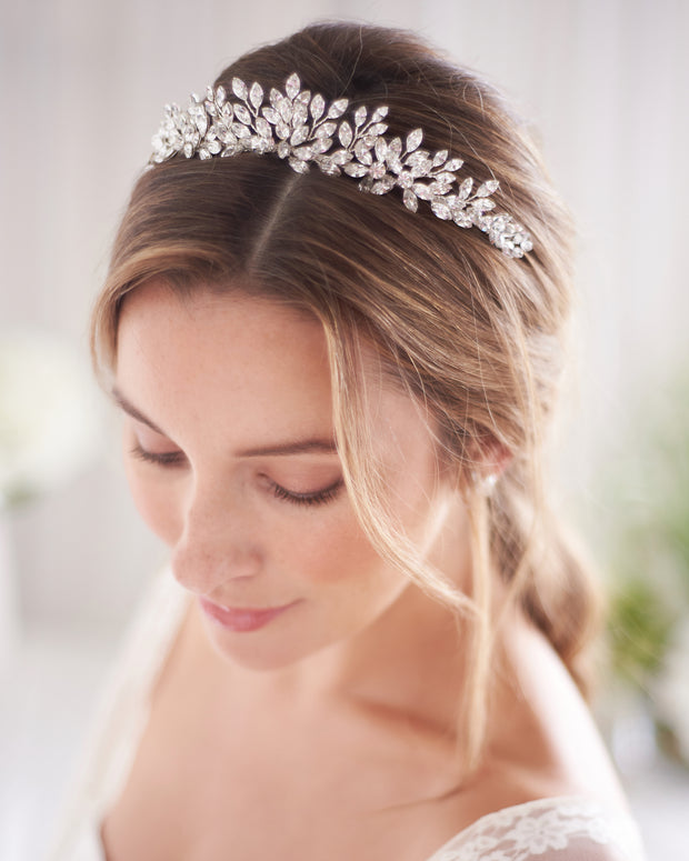 Silver Crystal Wedding Tiara