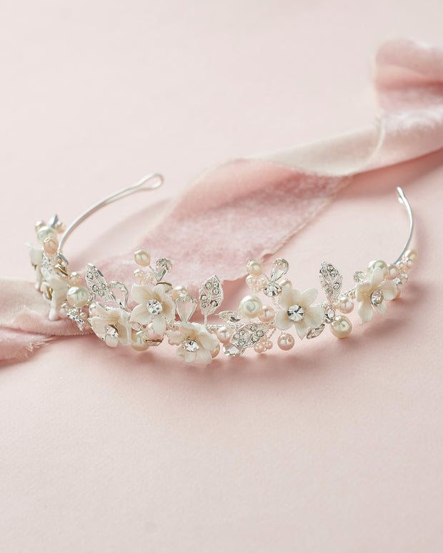 Blush Pink Tiara Headpiece