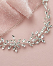 Silver Crystal Bridal Hair Vine
