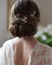 Floral Crystal Gemstone Wedding Hair Pins