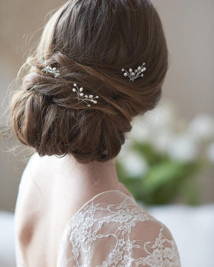 Crystal Gemstone Wedding Hair Pins