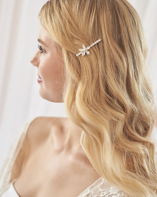 Pearl Flower Bobby Pin
