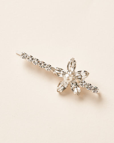Floral Crystal Bridal Bobby Pin