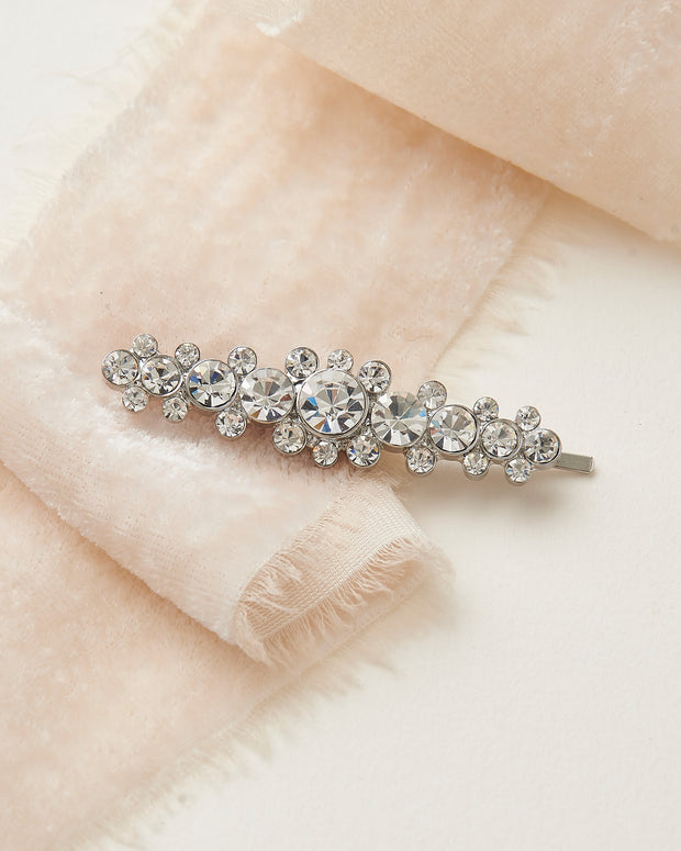 Silver Crystal Wedding Bobby Pin