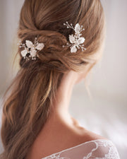 Floral Wedding Hair Pins