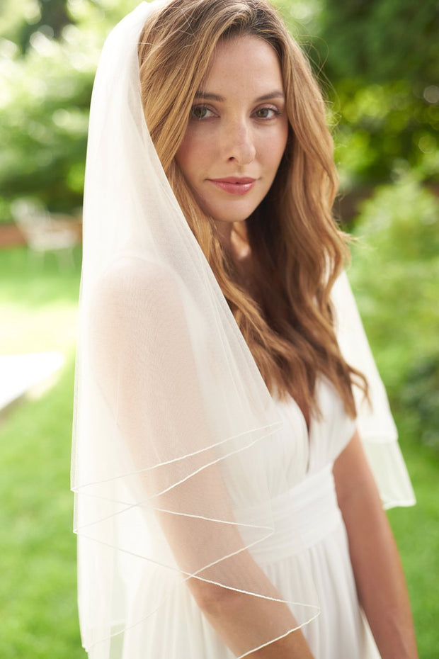 Pencil Edge Wedding Veil