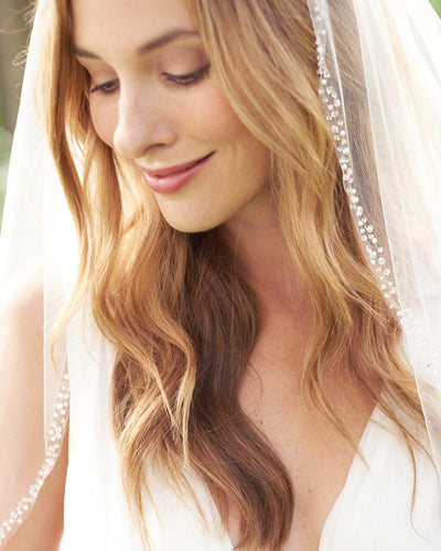 Beaded Wedding Veil