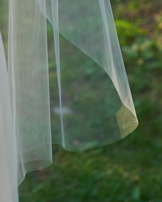 Cut Edge Bridal Veil