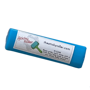 Sticky Roller, travel sized, washable lint roller, reusable, guaranteed, leak proof, quilts, pet hair, dust, threads