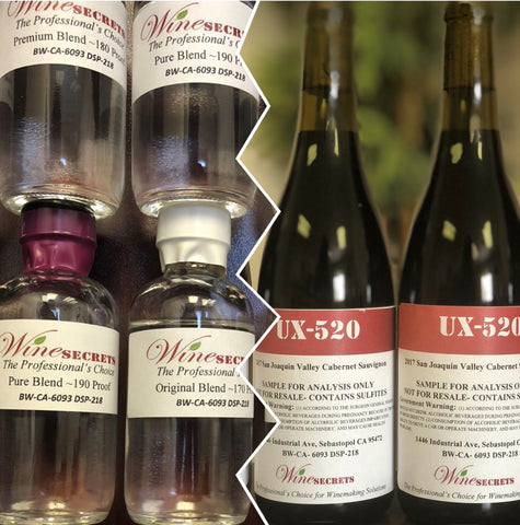 High Proof Grape Spirits and UX-520 High Color Wine