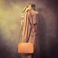 Burberry Leather Crossbody Clutch-Sold Items-Burberry-Tan-JustGorgeousStudio.com