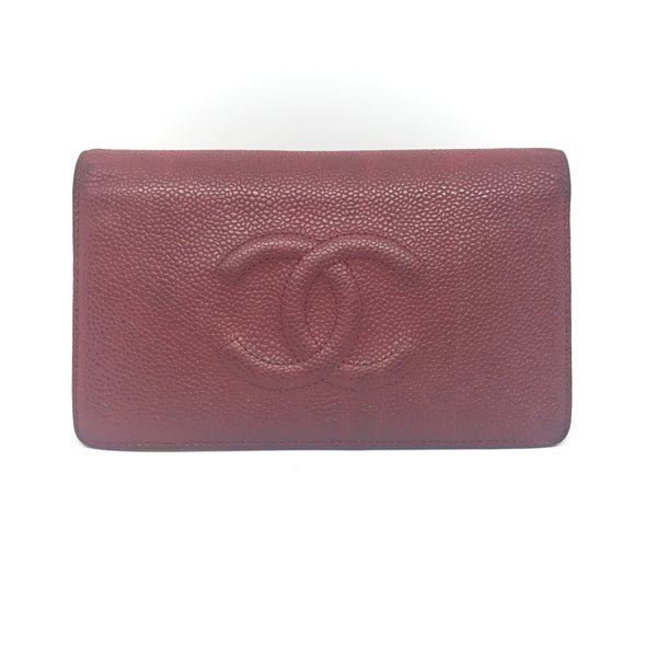 Chanel Bilfold Long Wallet-Sold Items-Chanel-Red-JustGorgeousStudio.com