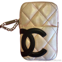 Chanel Cambon Pouch-Sold Items-Chanel-Pink/black-JustGorgeousStudio.com
